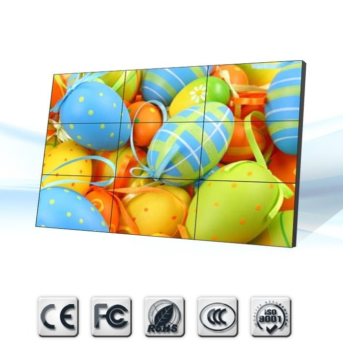 3 x 3 1080P 3D samsung video wall displays Rental , Hosipital Restaurant lcd digital signage